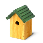 Chambers Cosy Bird Green Roof Nest Box 32mm entrance