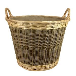 OBSL Willow Unpeeled and Buff Log Basket