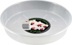 Growth Technology Orchid Pot Saucer - Clear - for 9-15cm Pot