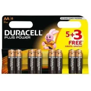 Duracell Battery AA 5 + 3 Free - 8 Pack