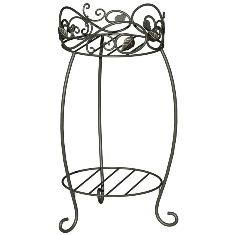 "Panacea 21.5"" Scroll & Ivy Plant Stand,"