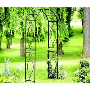 "Panacea Arched Top Arbour Black 9.5""H x 39.3"" W x 16""D"