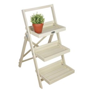 Fallen Stepped Plant Stand (cream)