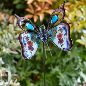 Smart Butterfly Brilliance Border Stake, Blue