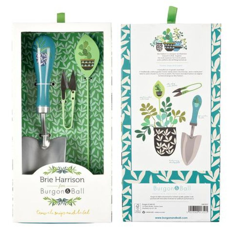 Burgon & Ball Brie Harrison Trowel, Snips and Label Set