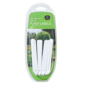 "Garland 10cm (4"")white Plant Labels (25)"