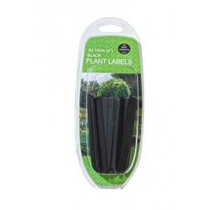 "Garland 10cm (4"")black Plant Labels (50)"