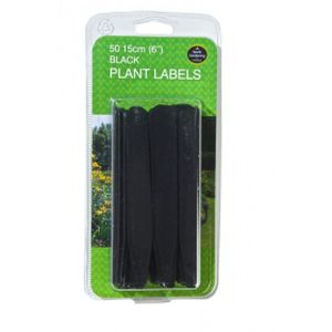 "Garland 15cm (6"")black Plant Labels (50)"