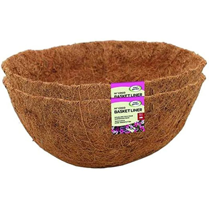 "Smart 14"" Coco Basket Liner Twin Pack"