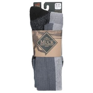 Muck Boot Authentic Rubber Boot Sock Grey Large