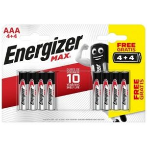 Energizer Max Alkaline AAA Batteries - 8 Pack (4 +4 Free)