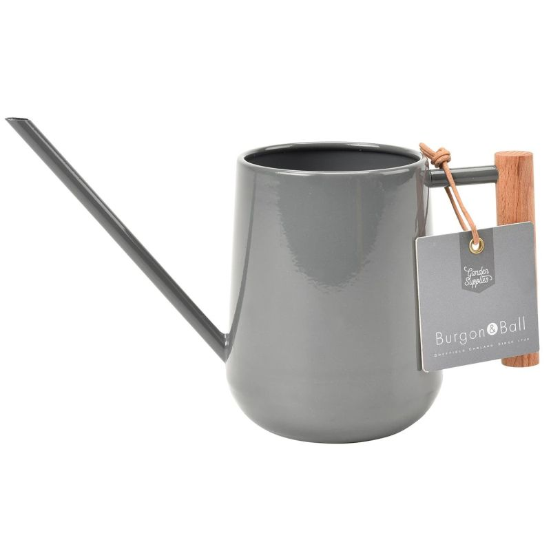 Burgon Indoor Watering Can - Charcoal
