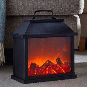 Smart Faux Fire Lantern Extra Large