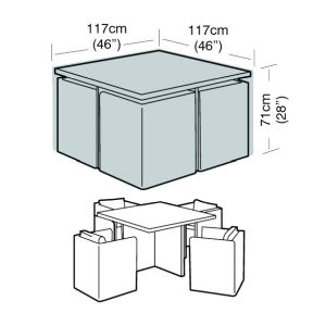 Garland 4 Seat Small Cube Set Cover