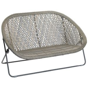 Faux Rattan Double OBSL Bench