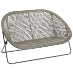 Faux Rattan Double Lounger Chair