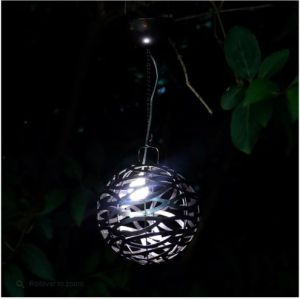Cole and Bright Solar Infinity Hanging Light Pewter