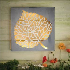 Cole and Bright Meadow Collection Solar Leaf Wall Art