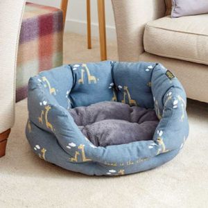 Zoon Head In The Clouds Giraffe Oval Dog Bed - Large