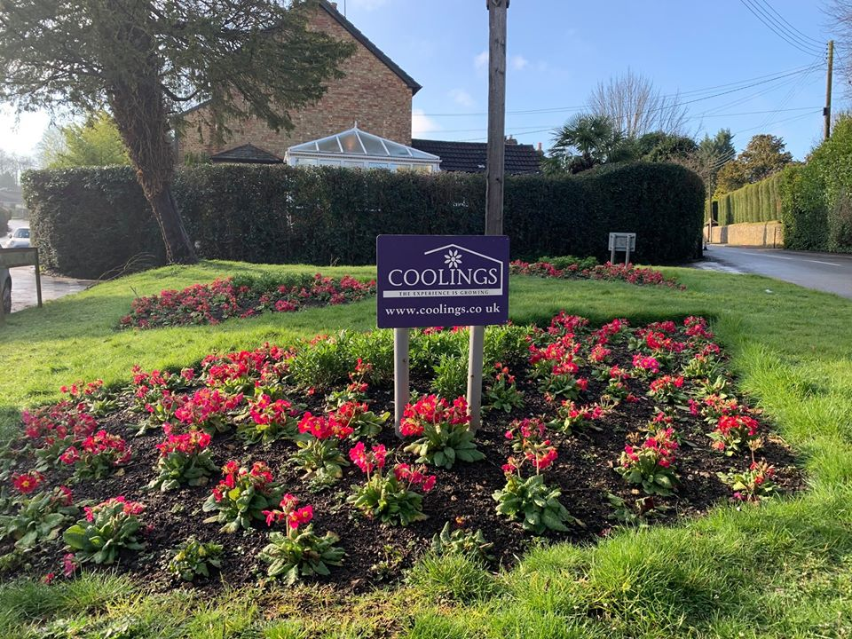 Flowerbeds in Knockholt Village