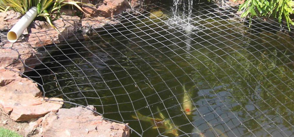 Add netting over ponds
