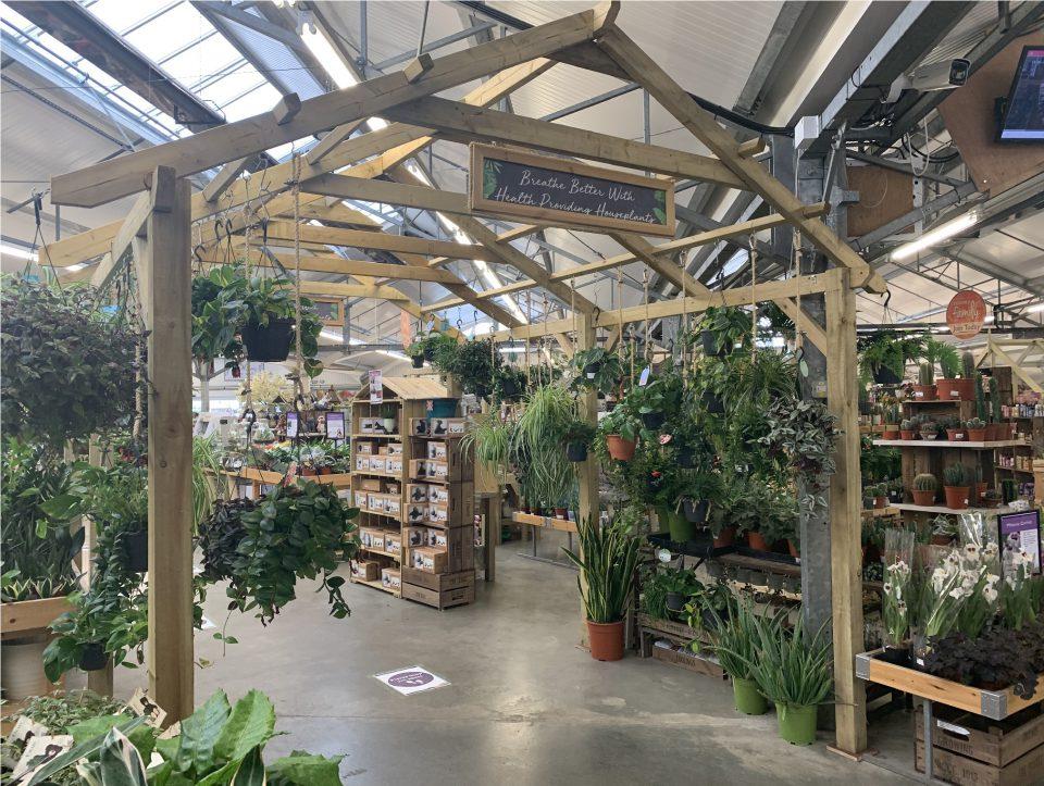 Houseplant area at Coolings The Gardener's Garden Centre