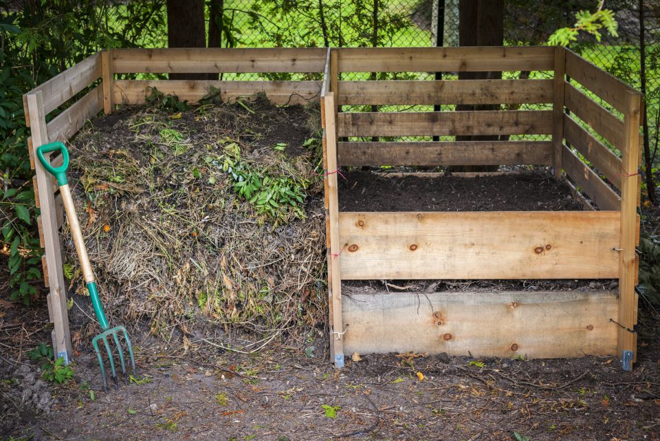 Home made compost heaps are excellent for the garden