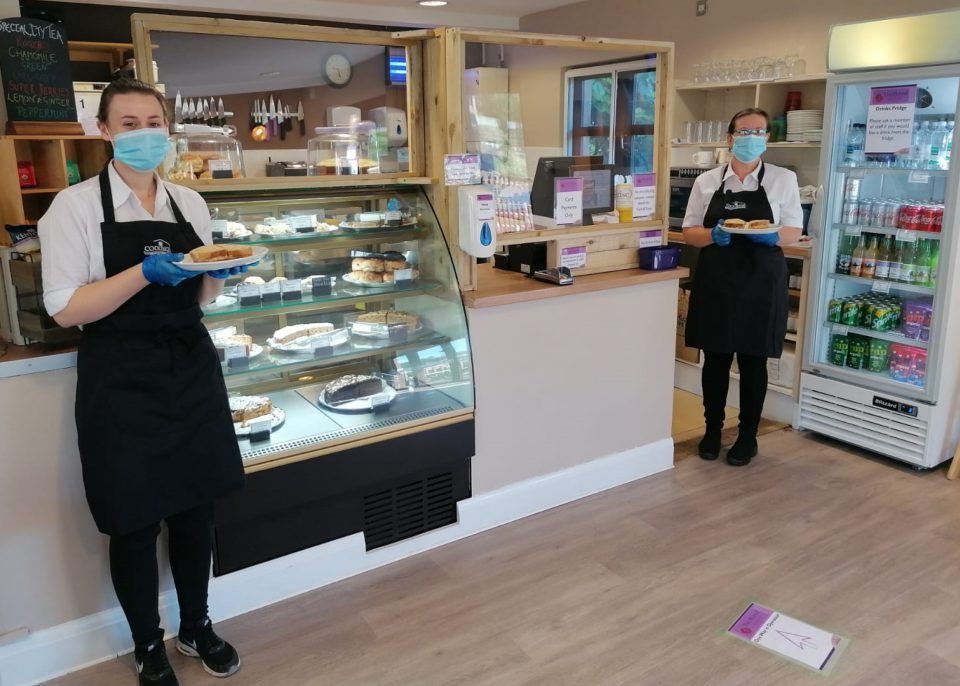 Staff at Hybrid Tea Room at Coolings Wych Cross Garden Centre